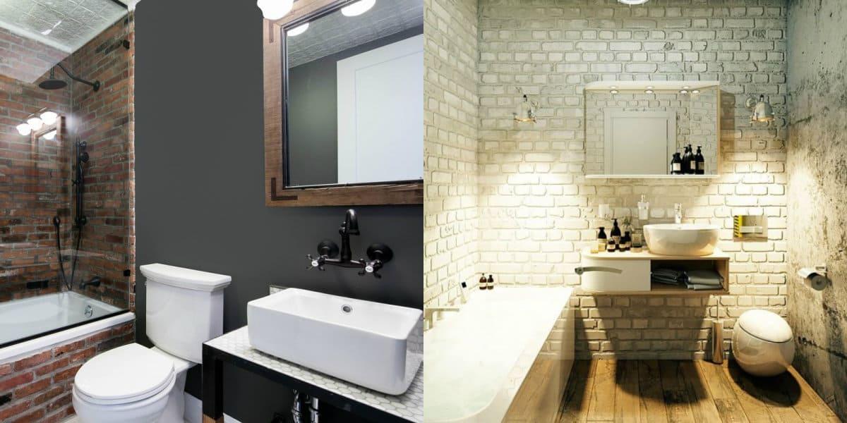 ванная комната 2019: лофт