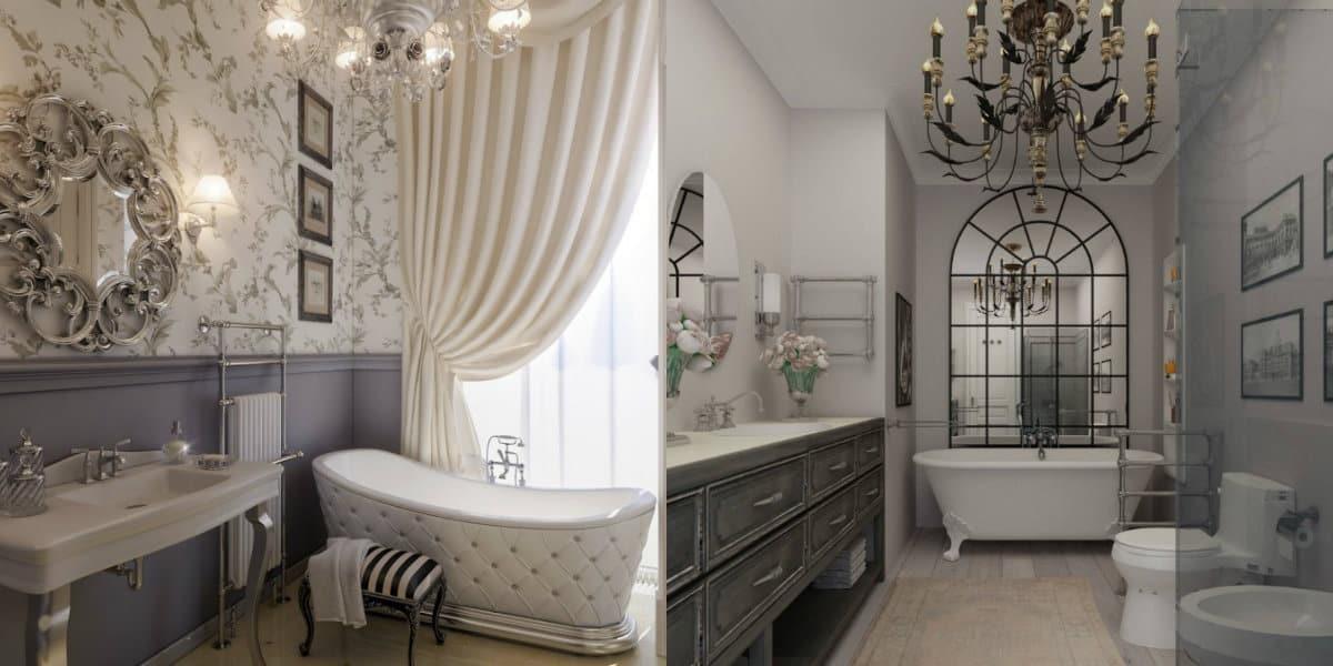ванная комната 2019: неоклассическая ванная