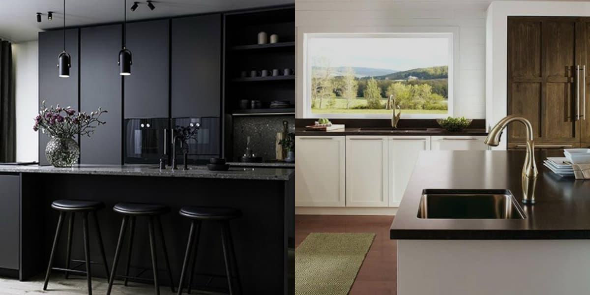 Дизайн кухни 2019: черная кухня