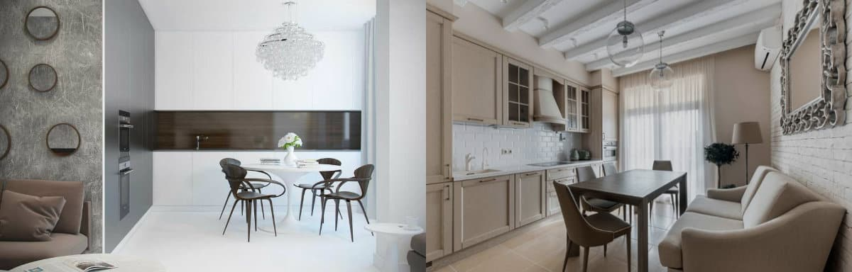 Дизайн кухни 2019: кухня-столовая