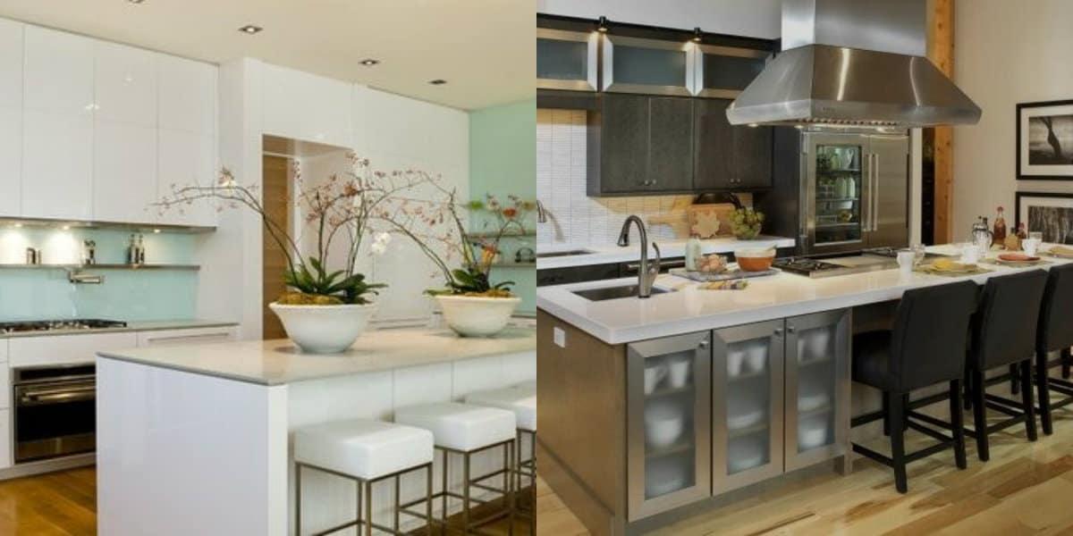 дизайн кухни 2019: цвет