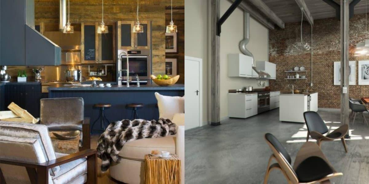 дизайн кухни 2019: лофт