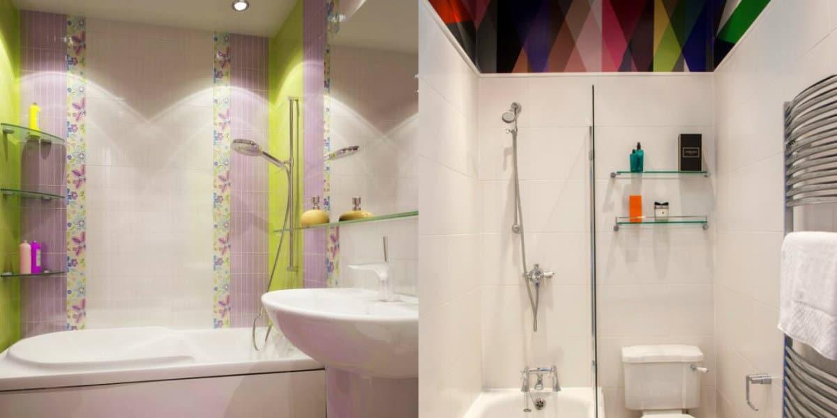 Дизайн маленькой ванной комнаты 2019: potolok