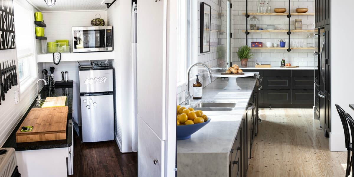 Дизайн маленькой кухни 2019: столешницы