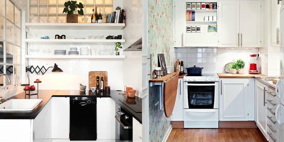 Дизайн маленькой кухни 2019: планировка