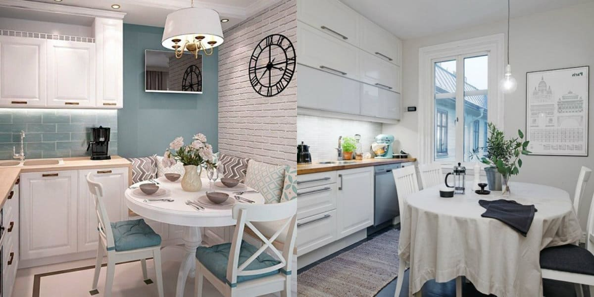 Дизайн маленькой кухни 2019: Прованс