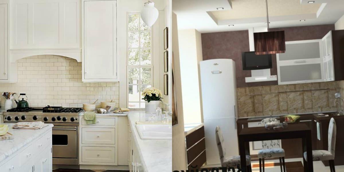 Дизайн маленькой кухни 2019: мебель