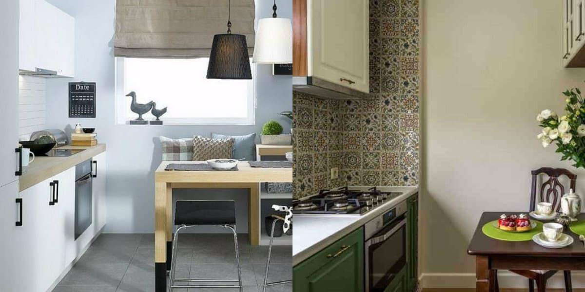 Дизайн маленькой кухни 2019: плитка