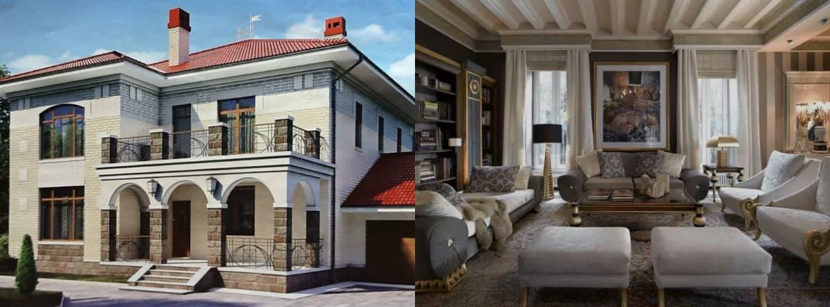 Дом в стиле Неоклассика: арочные проемы