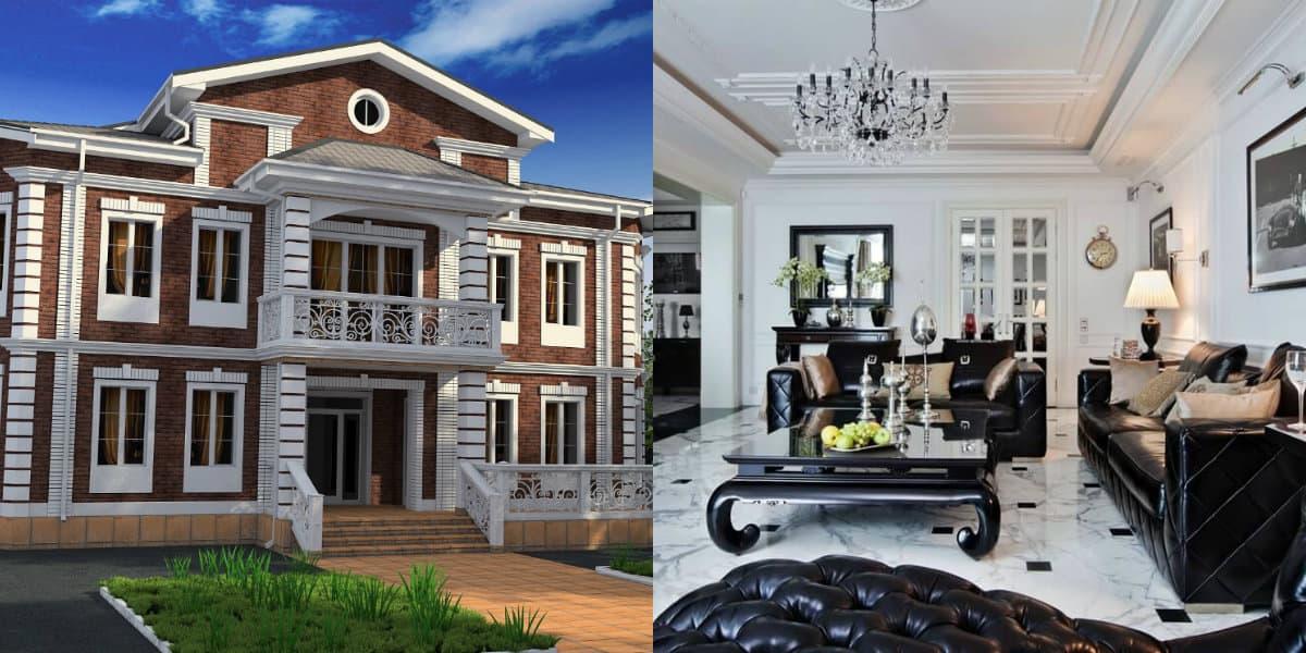 Дом в стиле Неоклассика: внутренняя отделка