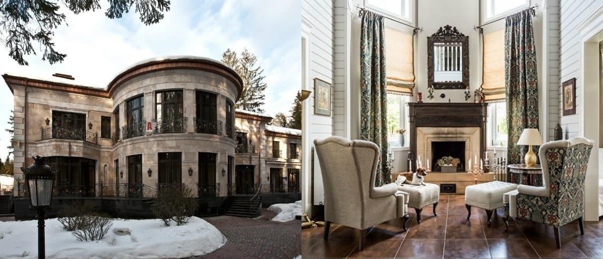 Дом в стиле Неоклассика: интерьер
