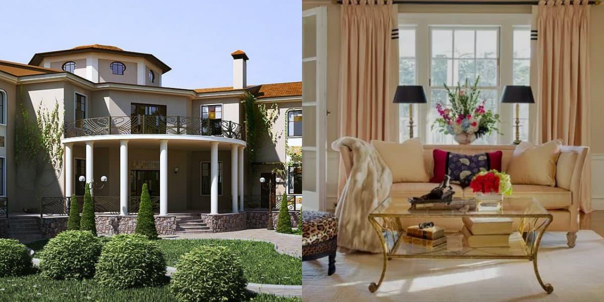 Дом в стиле Неоклассика: каменный цоколь