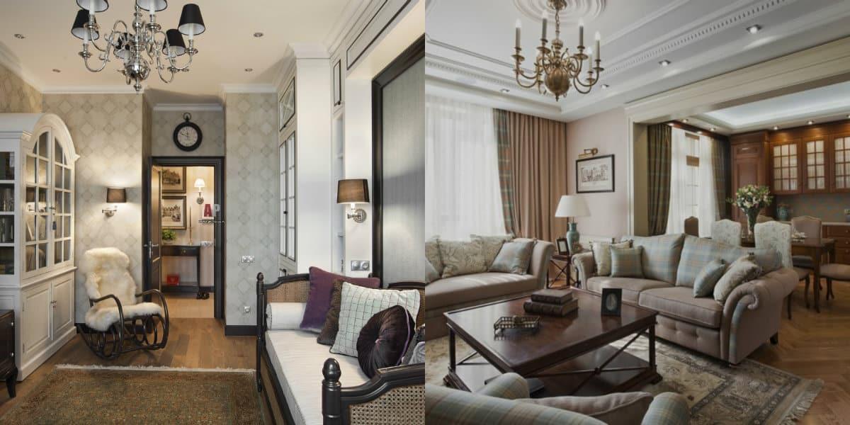 Квартира Неоклассика: гостиная