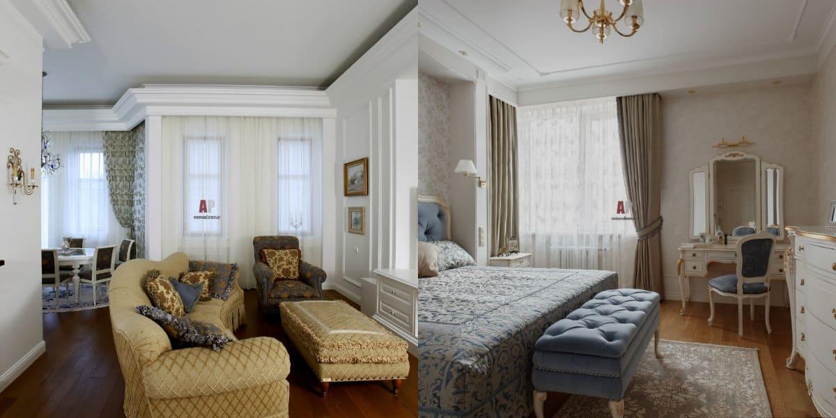 Квартира Неоклассика: мягкая мебель