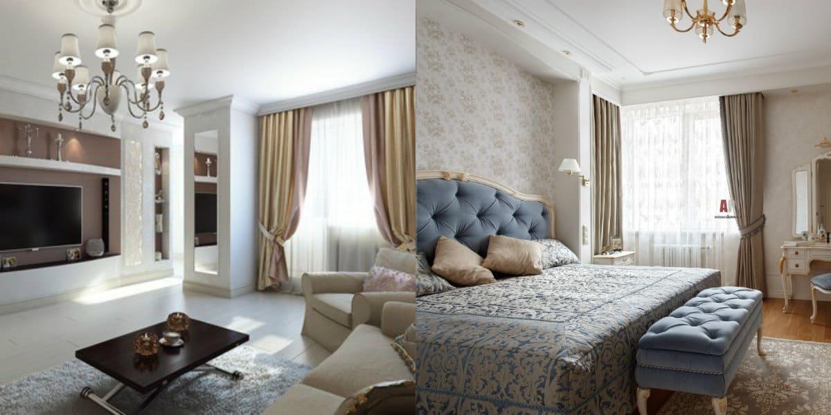 Квартира в стиле Неоклассика: кровать