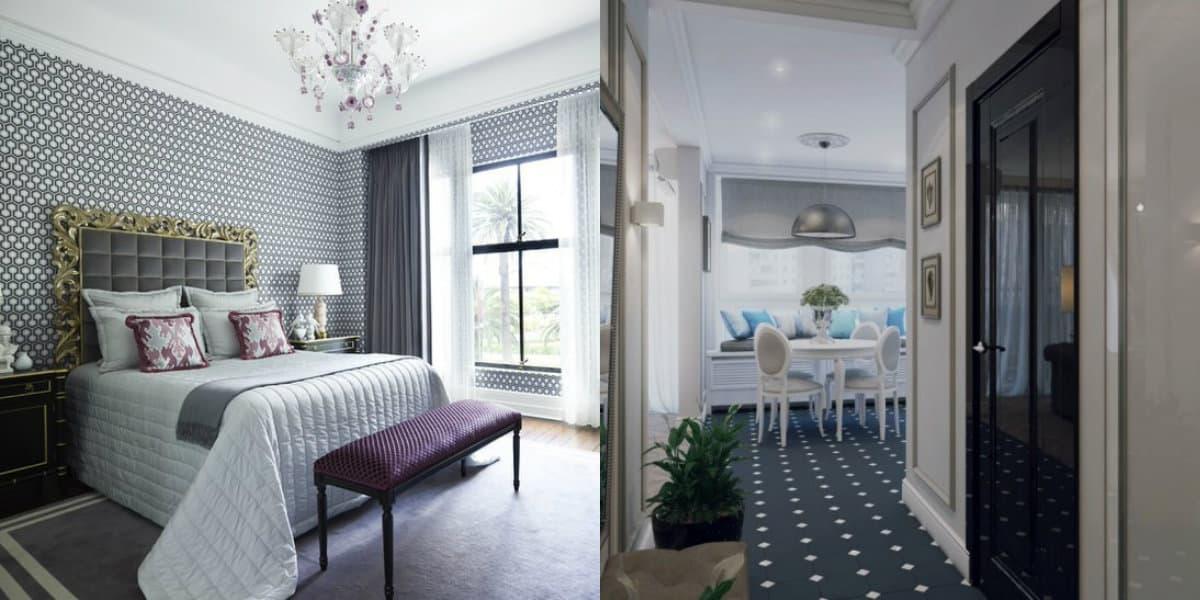 Квартира Неоклассика: спальня