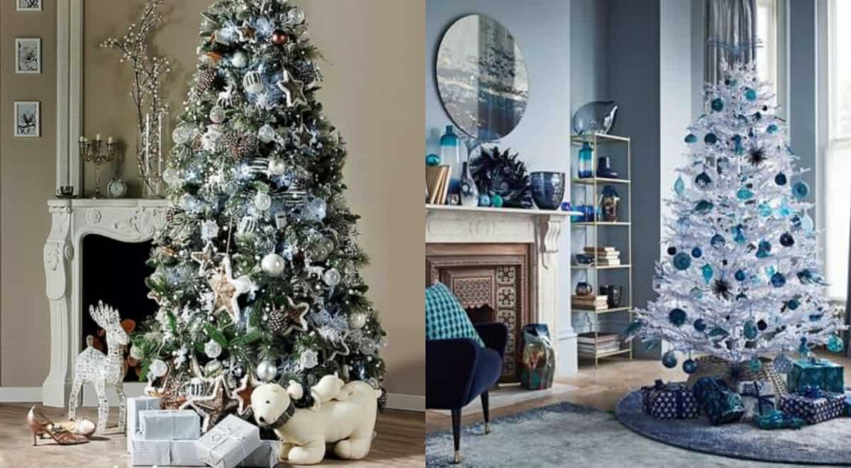 Новогодний интерьер 2019: голубой дизайн