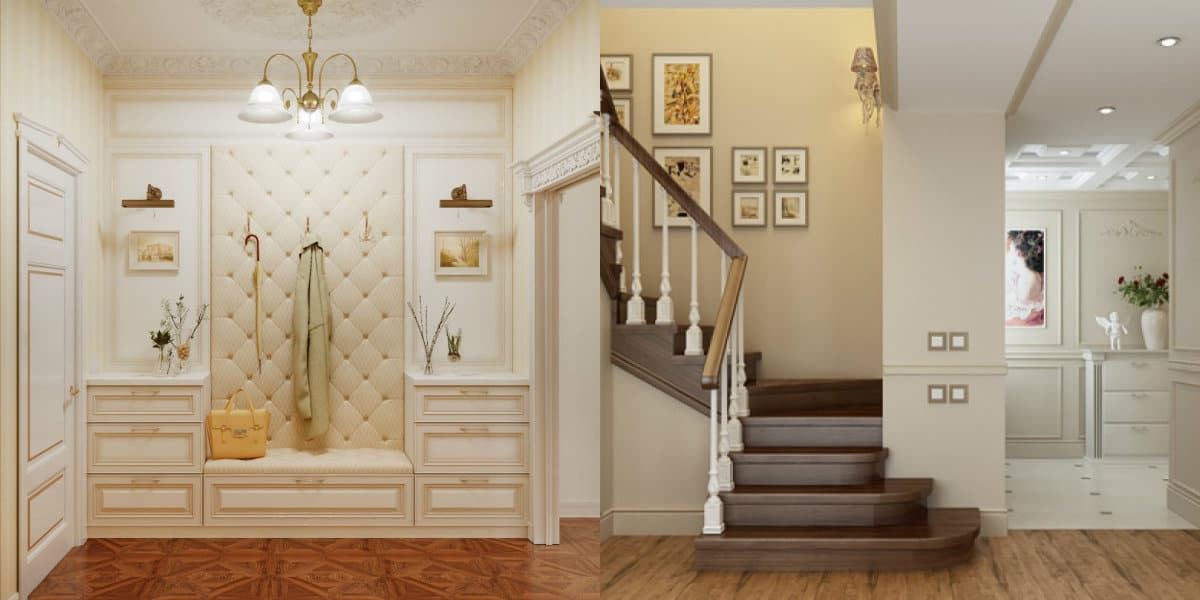 Прихожая в стиле Неоклассика: лестница