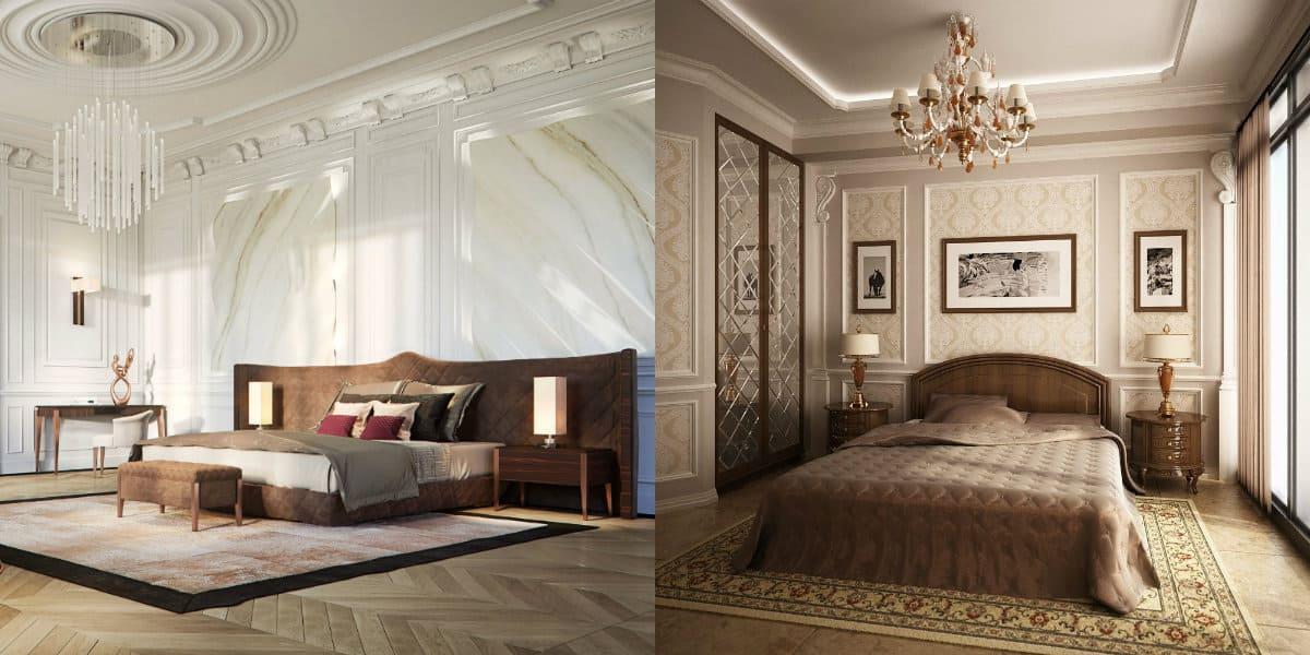 Спальня в стиле Неоклассика: просторный вариант