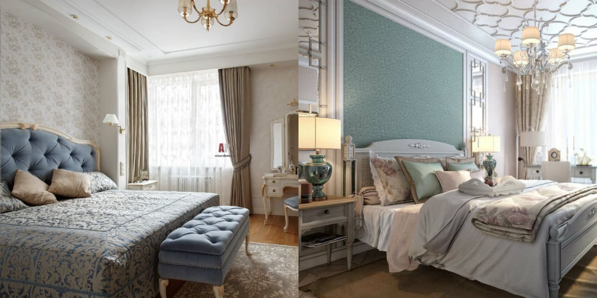 Спальня в стиле Неоклассика: отделка