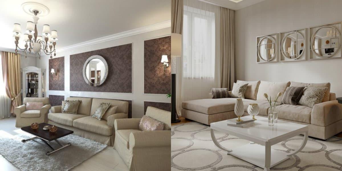Гостиная в стиле Неоклассика: ковровое покрытие