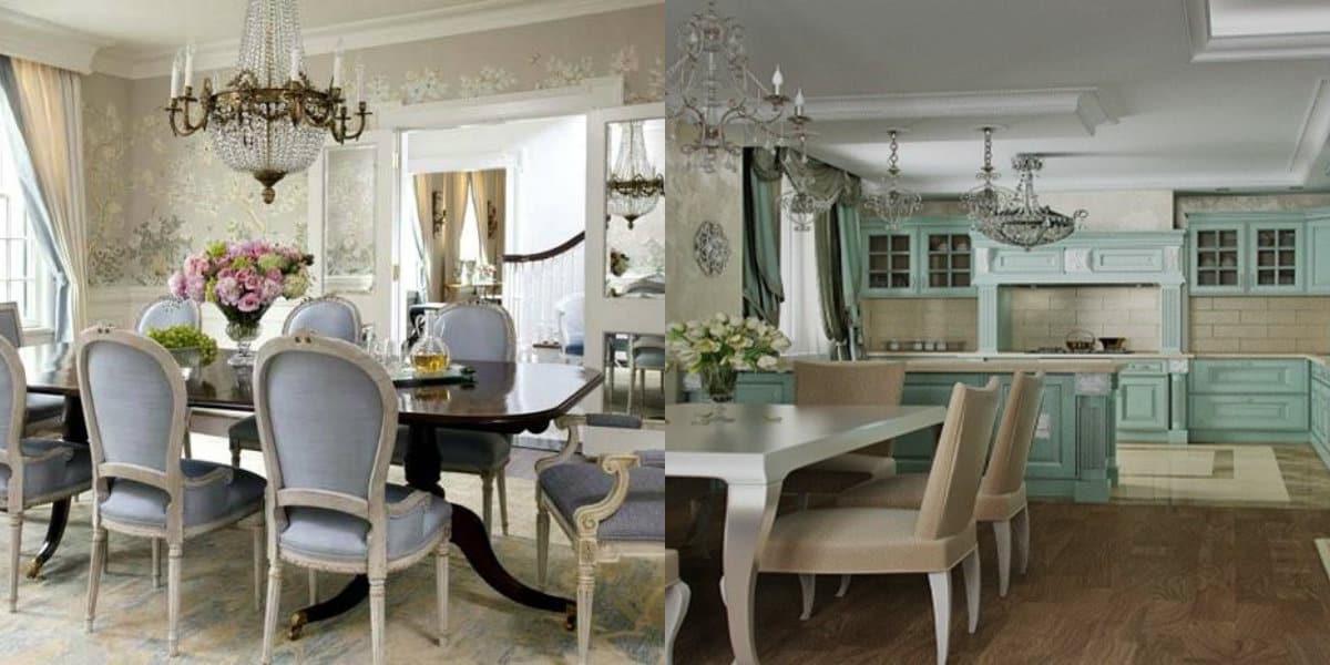 Гостиная в стиле Неоклассика: кухня гостиная