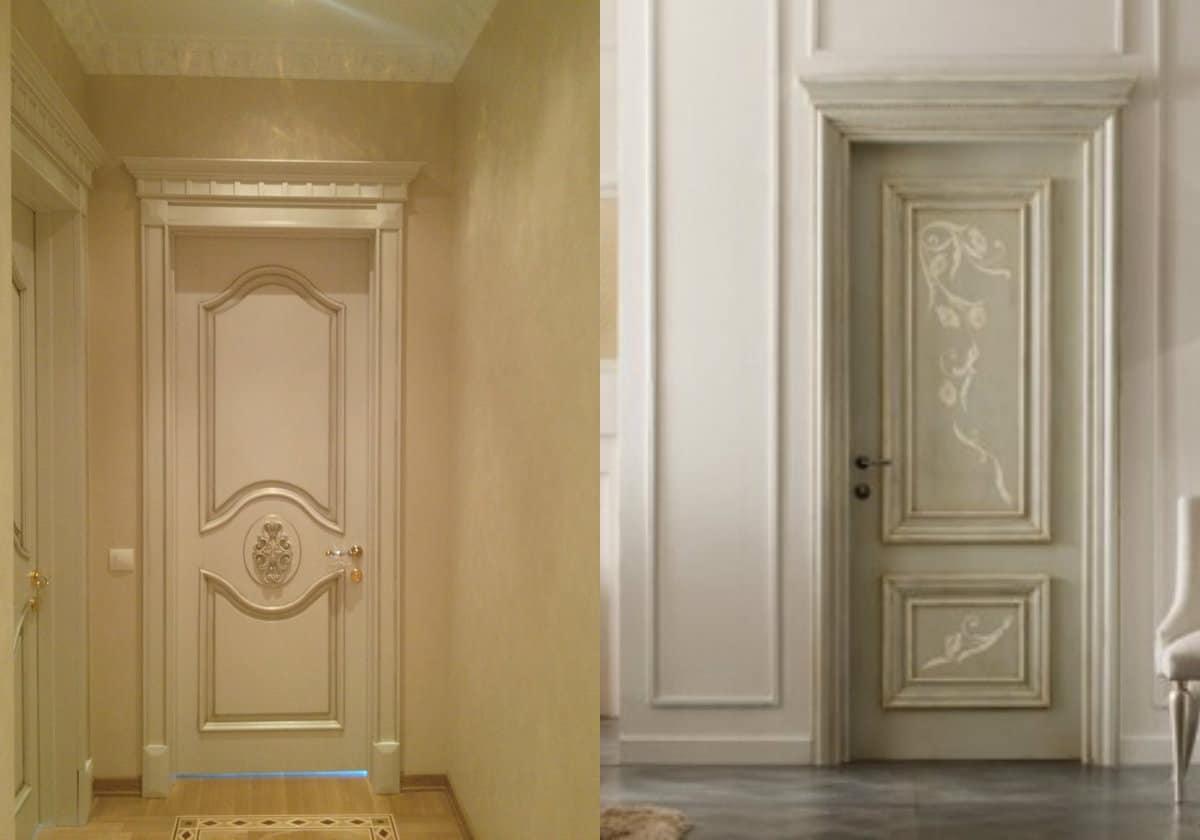 двери в стиле Неоклассика: античный дизайн