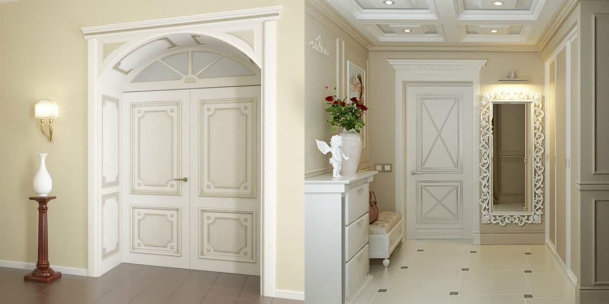 двери в стиле Неоклассика: арочный проем