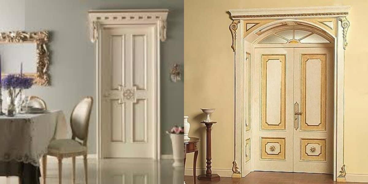 двери в стиле Неоклассика: двухстворчатые двери