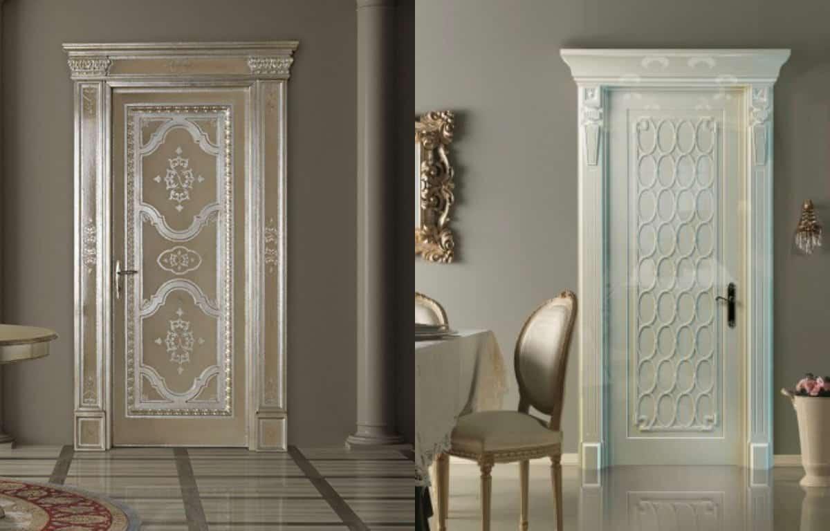 двери в стиле Неоклассика: пилястры