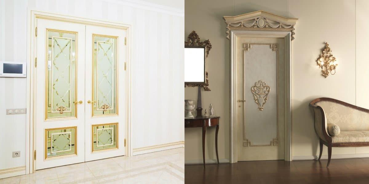 двери в стиле Неоклассика: наличник