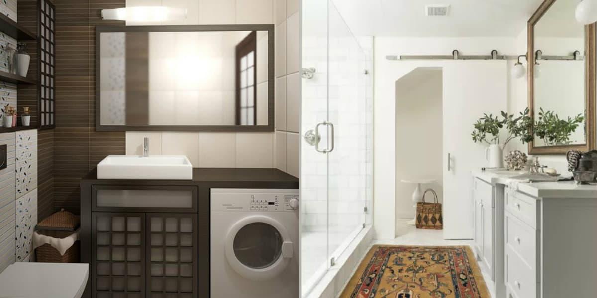 Дизайн маленькой ванной комнаты 2019: стиральная машина