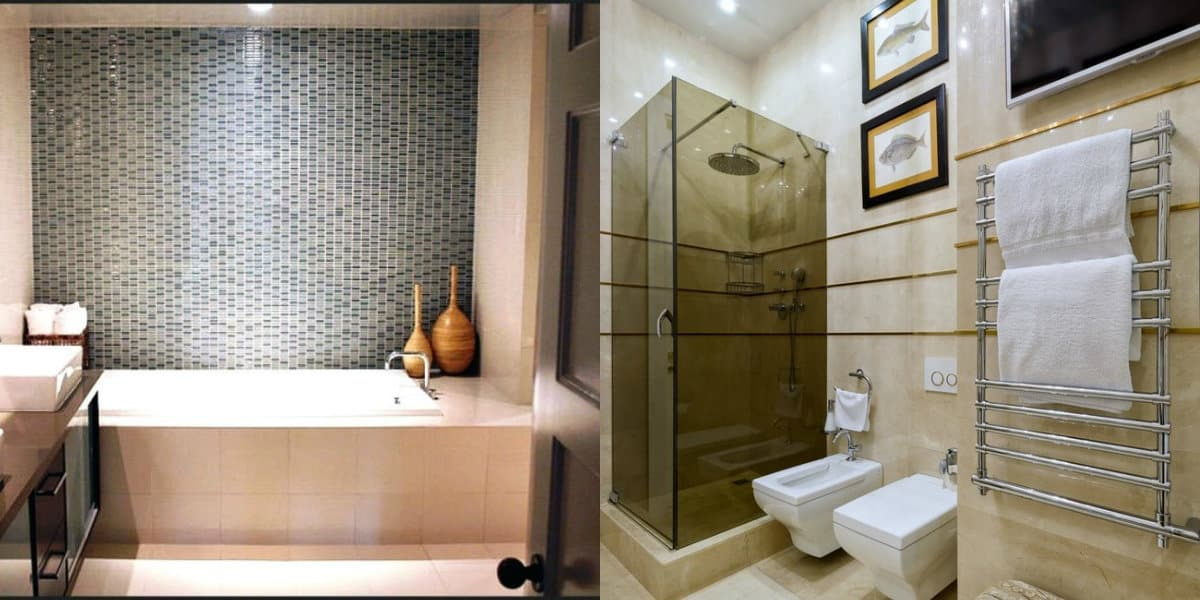 Дизайн маленькой ванной комнаты 2019: душевая кабина
