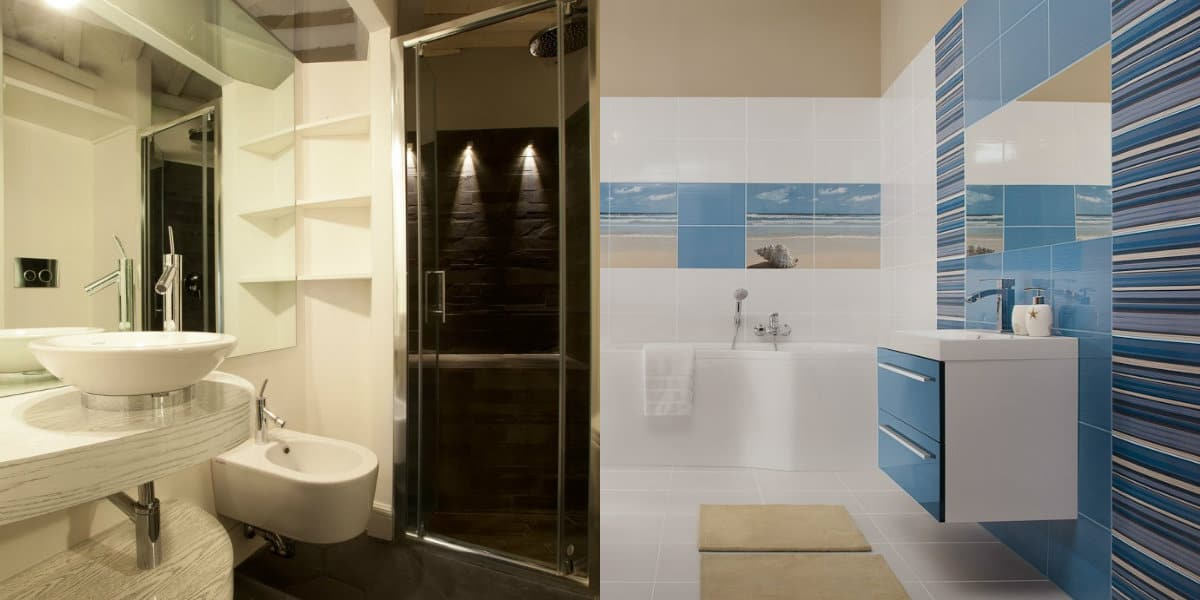 Дизайн маленькой ванной комнаты 2019: минимализм
