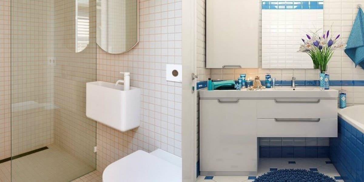Дизайн маленькой ванной комнаты 2019: белое оформление