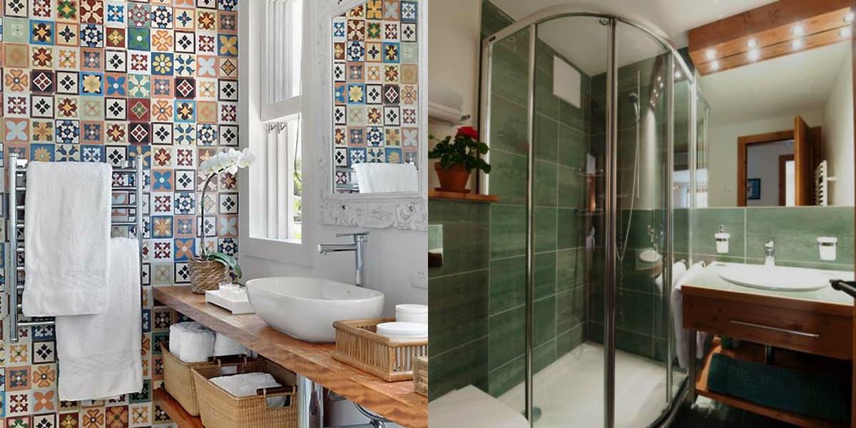 Дизайн маленькой ванной комнаты 2019: плитка