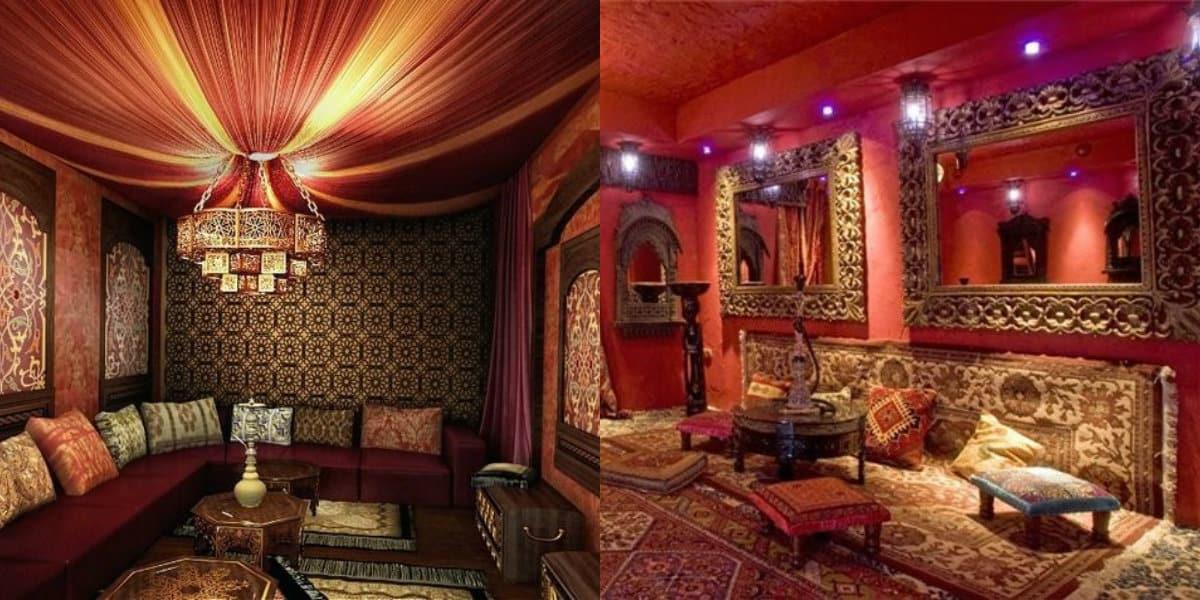 Интерьер в восточном стиле: диваны