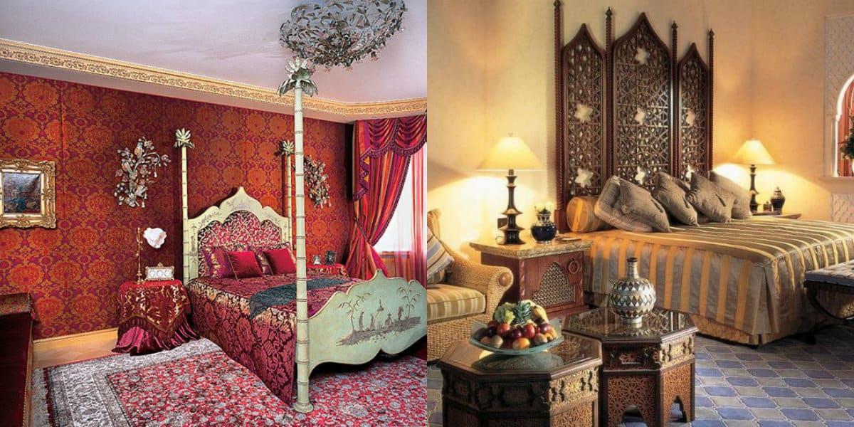 Интерьер в восточном стиле: спальня