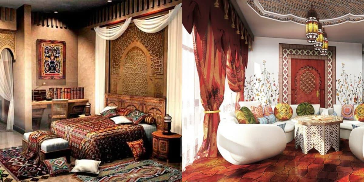 Интерьер в восточном стиле: кровать