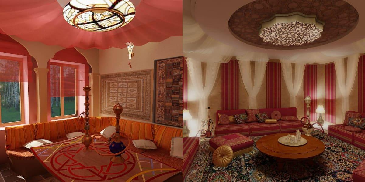 Интерьер в восточном стиле: потолок