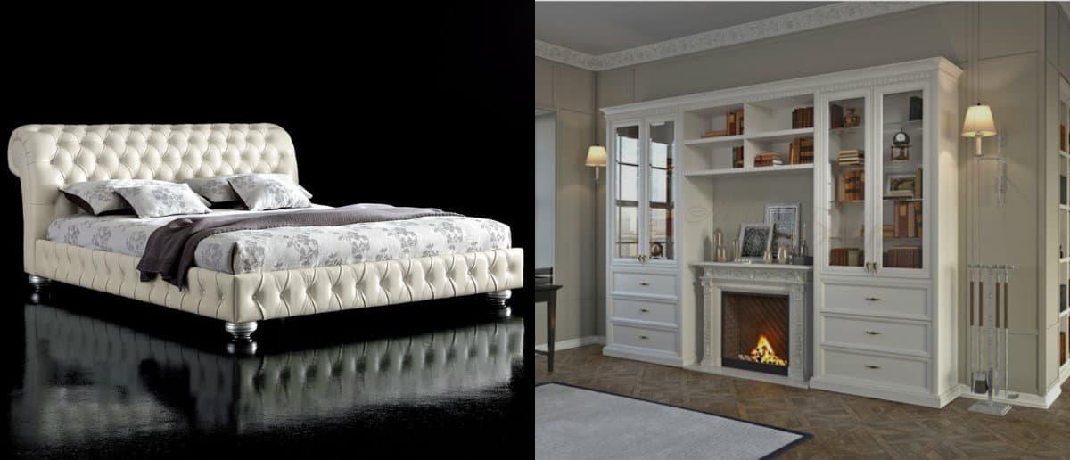 мебель в стиле неоклассика: кровать