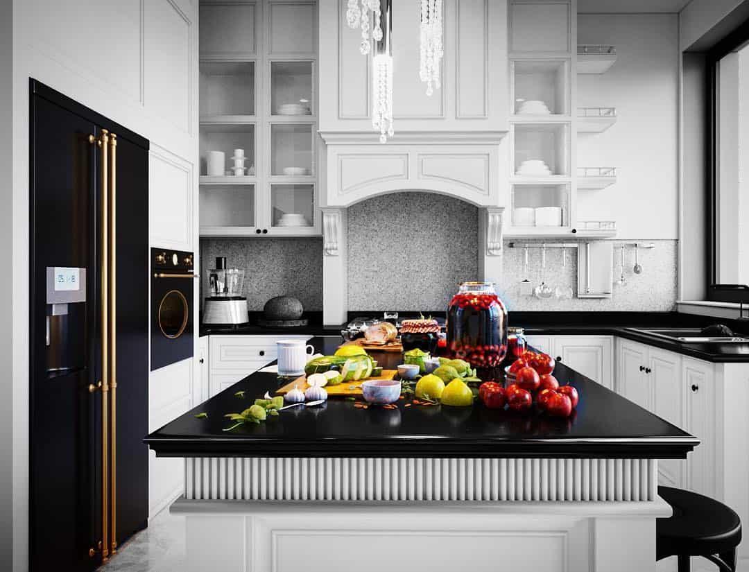 стиль-неоклассика-в-интерьере-кухни