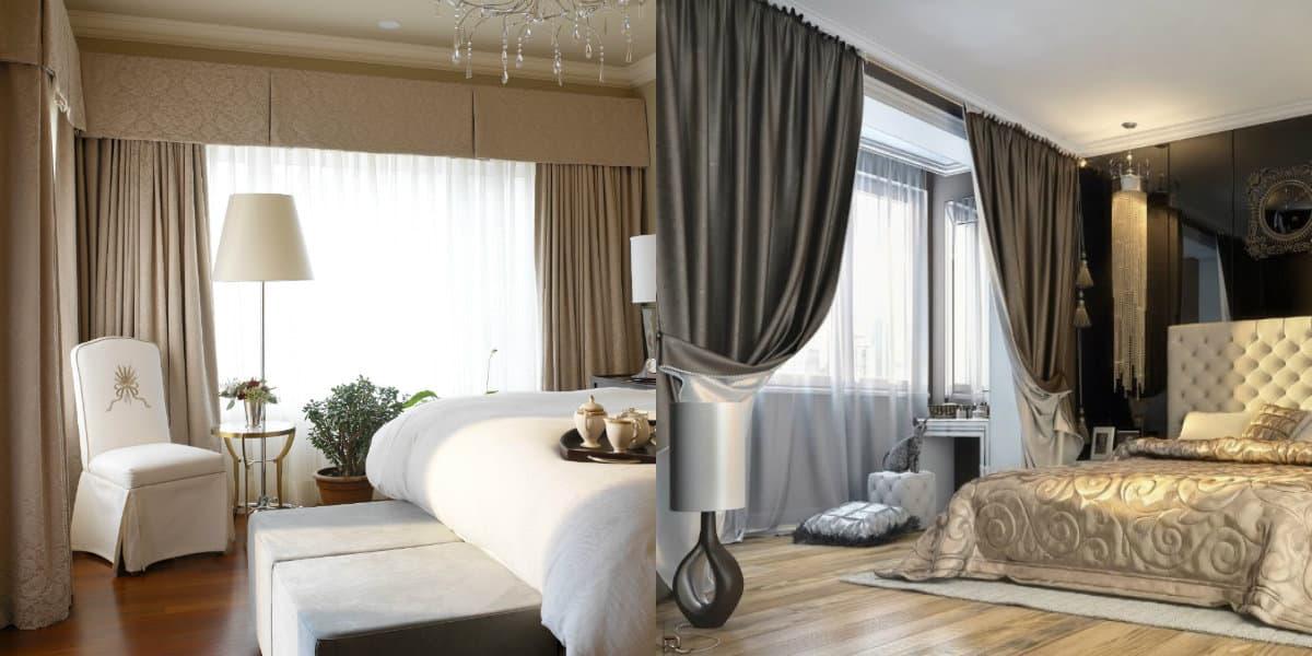 Шторы для спальни 2019: итальянский дизайн