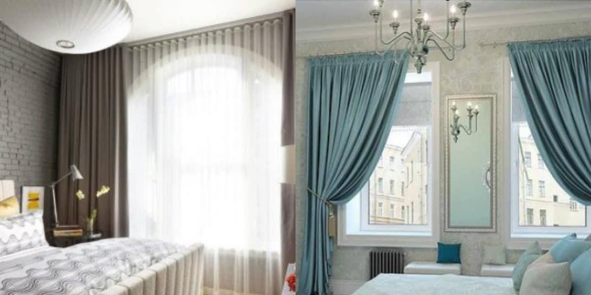Шторы для спальни 2019: ламбрекен