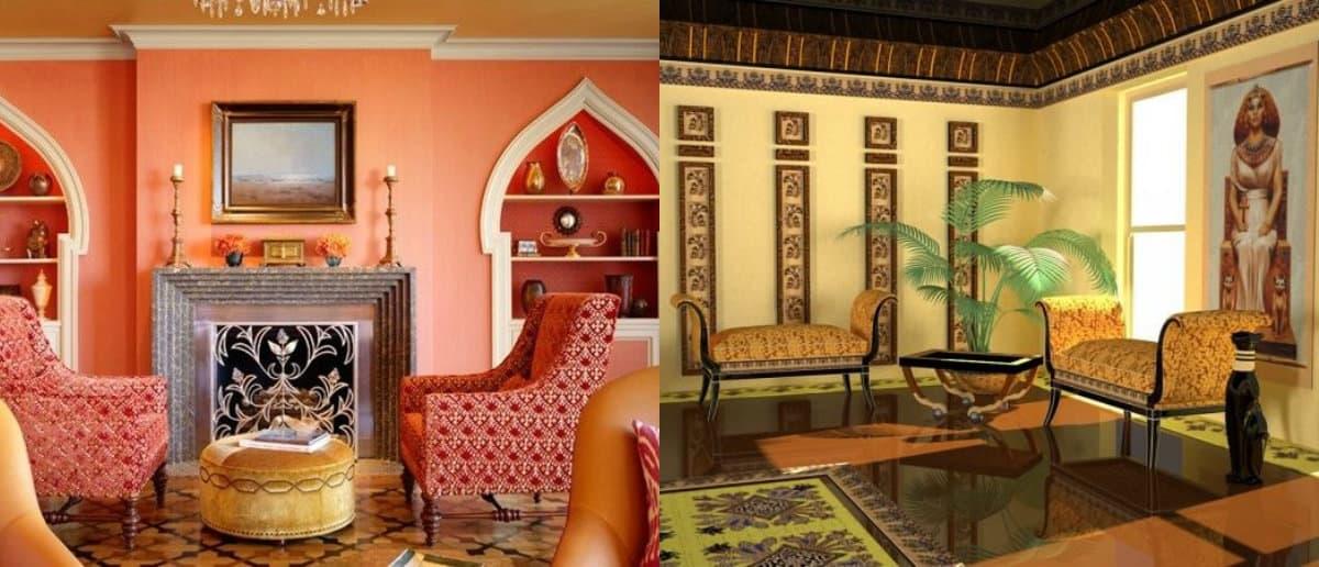 Этнический стиль в интерьере: египетский дизайн