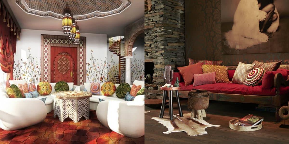 Этнический стиль в интерьере: восточная гостиная
