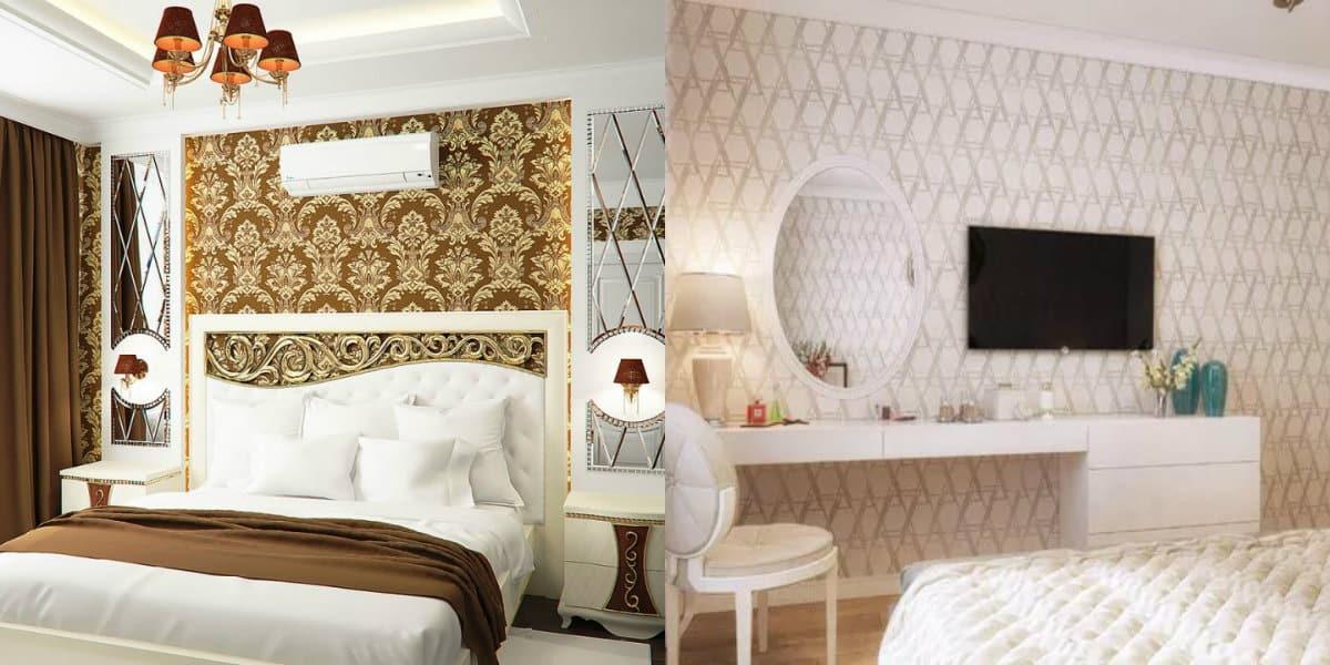 Обои в стиле Неоклассика: варианты для спальни
