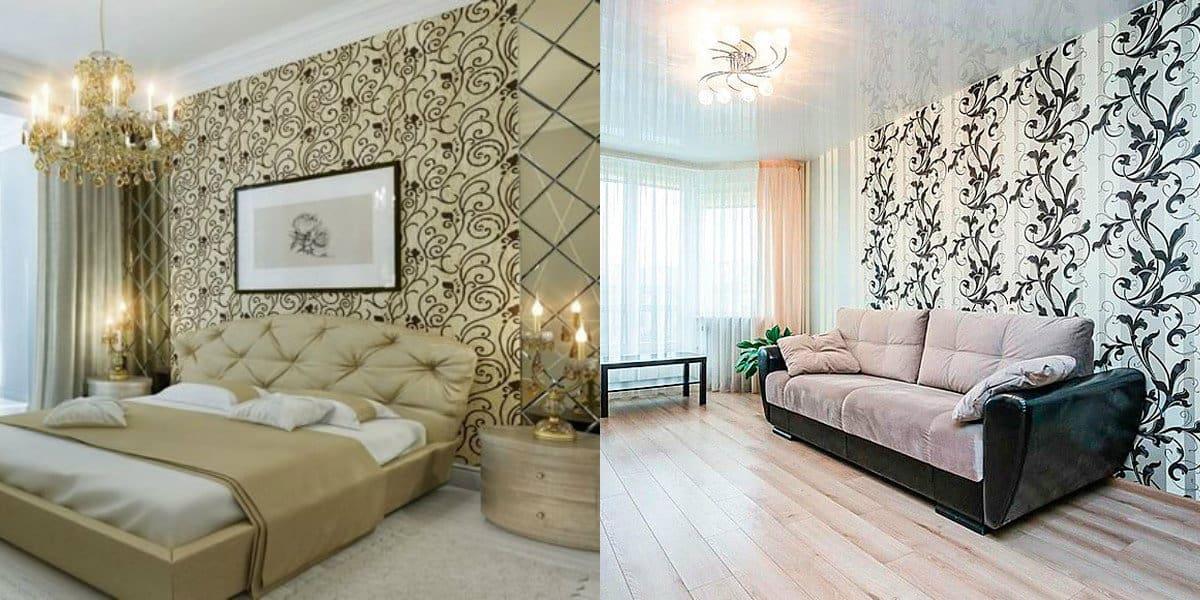 Обои в стиле Неоклассика: растительный орнамент