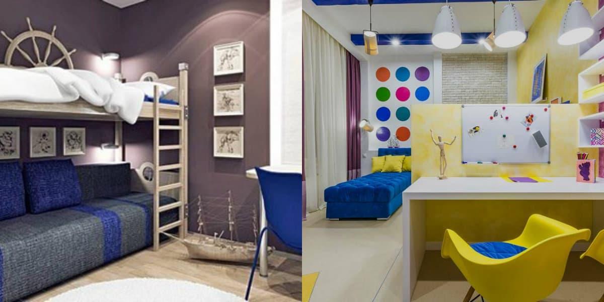 Детская комната 2019: морская тематика