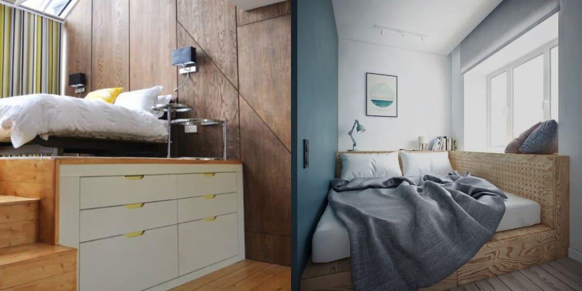 дизайн маленькой спальни 2019: планировка